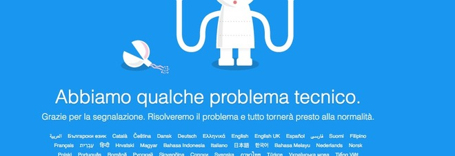 Photo of Twitter down, stop temporaneo del social network